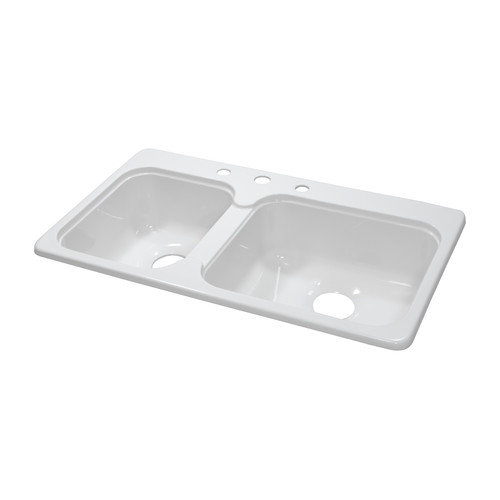 lyons industries deluxe 33'' x 19'' x 7.25'' kitchen sink