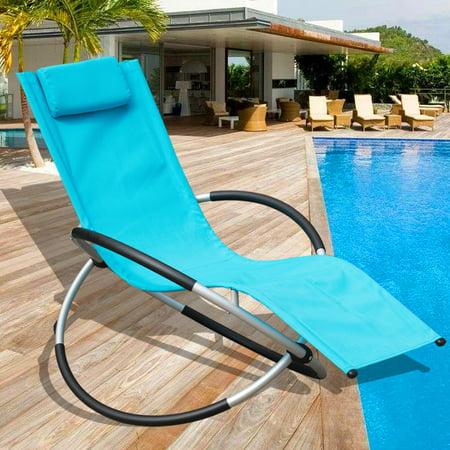 Sundale Outdoor Patio Garden Zero Gravity Folding Rocking Orbital Lounge Chair Capacity 250 Lbs