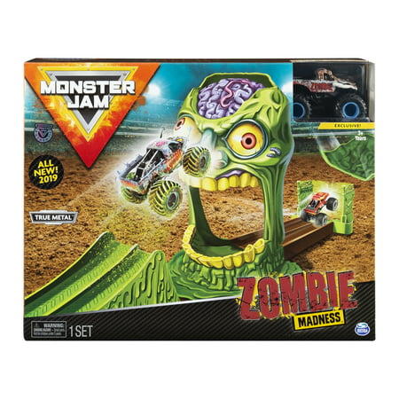 Jam Track (Monster Jam, Official Zombie Madness Playset Featuring Exclusive 1:64 Scale Die-Cast Zombie Monster)
