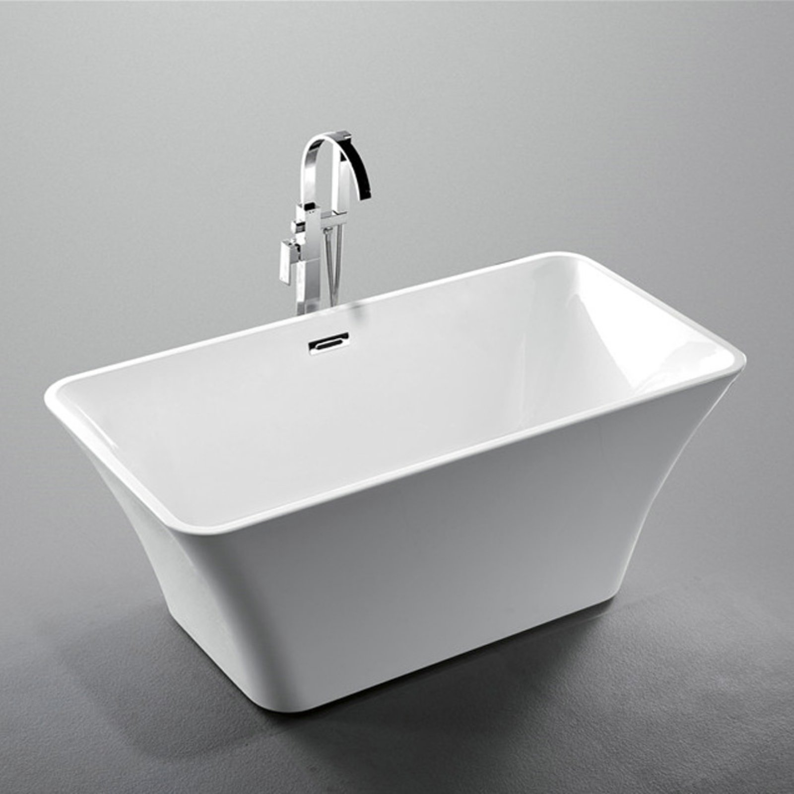 Legion Furniture WE6840 Acrylic 67 in. Freestanding Soaking Bathtub