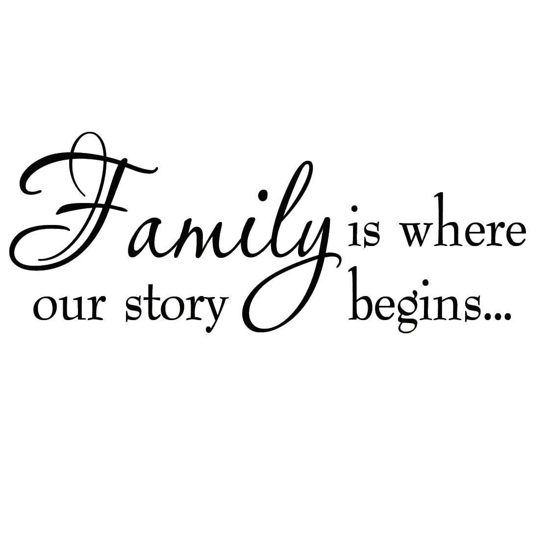 VWAQ Family Is Where Our Story Begins Family Wall Decals Inspirational Quotes Home Decor  sc 1 st  Walmart & VWAQ Family Is Where Our Story Begins Family Wall Decals ...