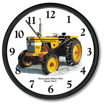 "New Minneapolis Moline Tracteur modèle 304U 10"" Round Horloge Thermomètre Set - image 1 de 3"