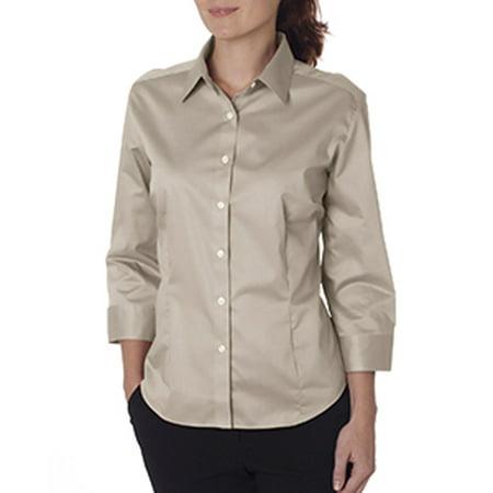 Van Heusen Ladies' 3/4-Sleeve Dress Twill 13V0527 (Van Heusen Dress Shirt Xxxl)