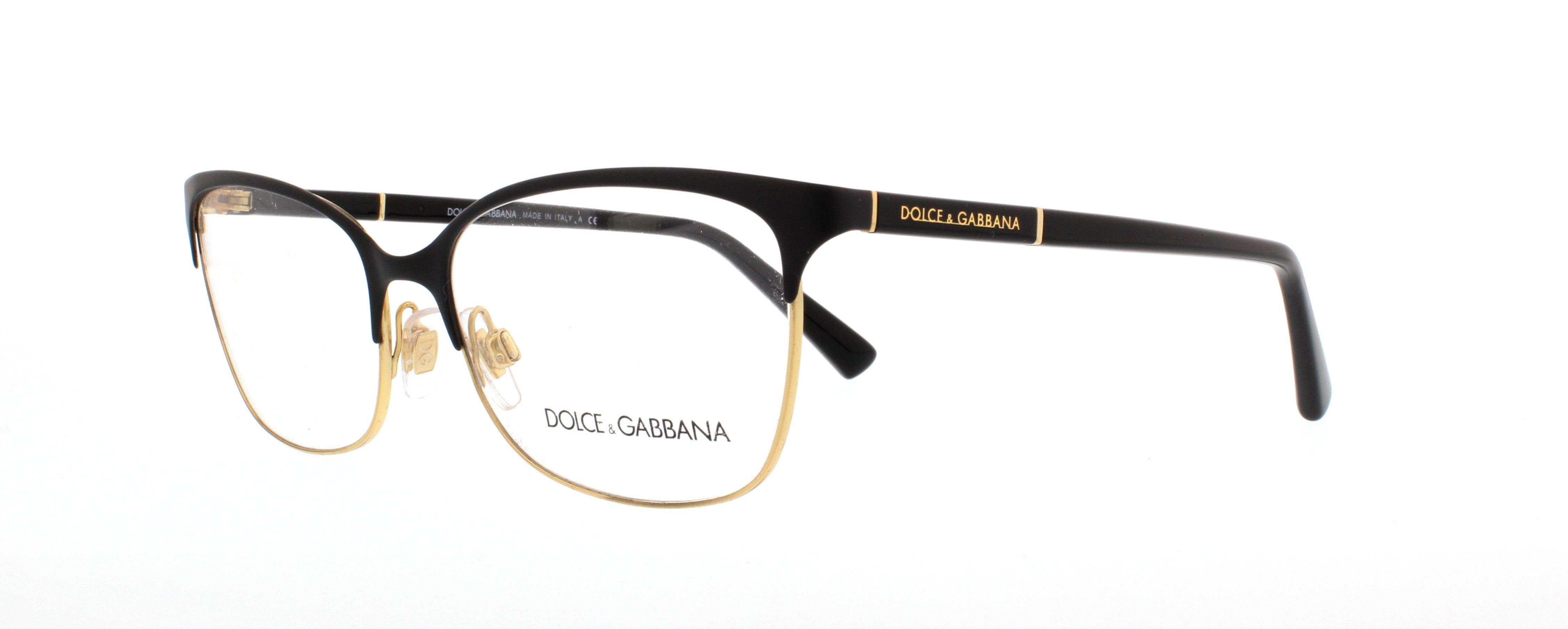 dolce gabbana eyeglasses dg1268 025 black gold 54mm walmartcom - Dolce And Gabbana Eyeglass Frames