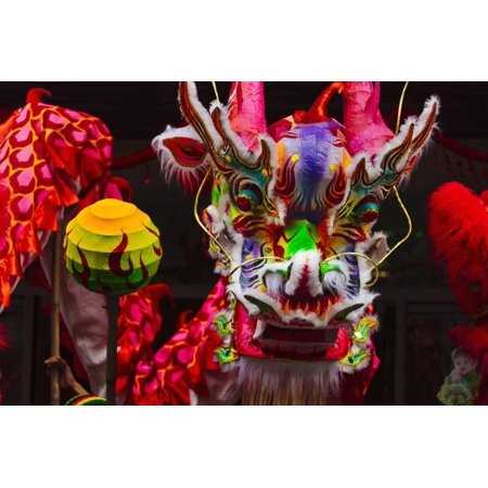 Dragon Dance Celebrating Chinese New Year in China Town, Manila, Philippines Print Wall Art By Keren - Chinese Dragon Decor