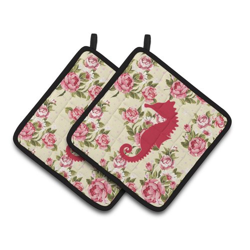 Caroline's Treasures Seahorse Potholder (Set of 2)