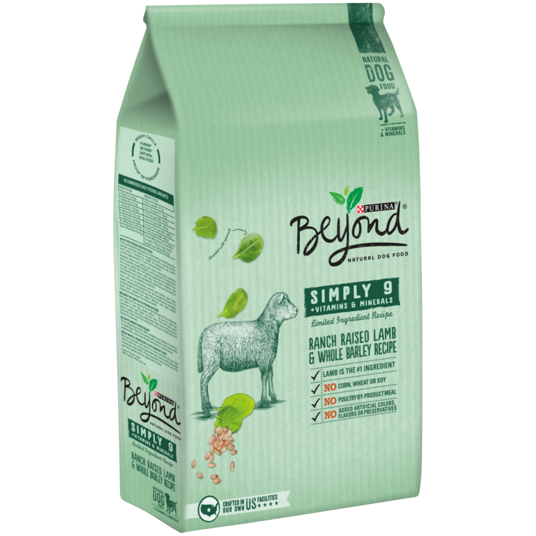 Purina Beyond Simply 9 Ranch Raised Lamb & Whole Barley Recipe Dog Food 3.7 lb. Bag