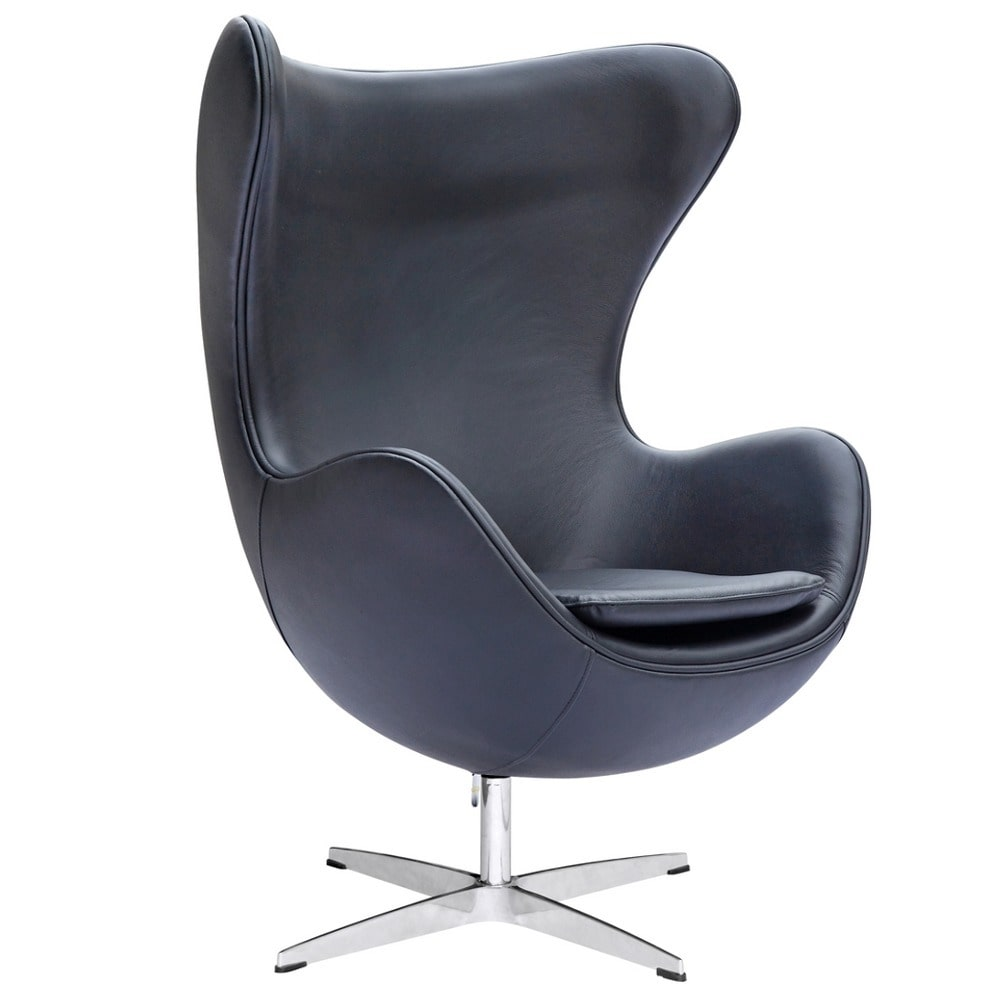 Leather Egg Chair White