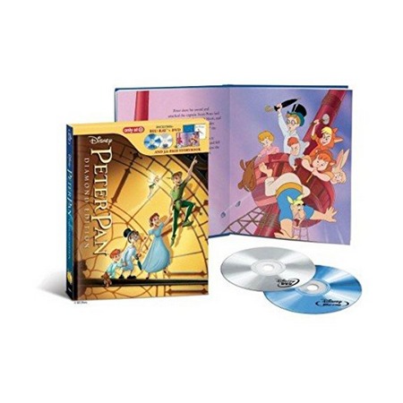 Peter Pan Exclusive DigiBook / Diamond Edition | 32-Page Storybook / Blu-ray + DVD Disney / Buena Vista | 1953 | 77 min | Rated G | Feb 05, 2013