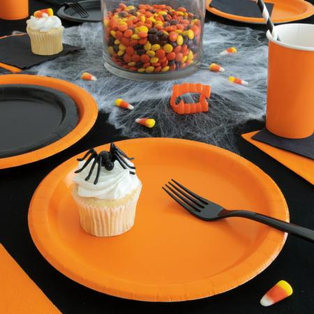Orange County Halloween Party (Orange & Black Halloween Party Tableware Kit, Serves)