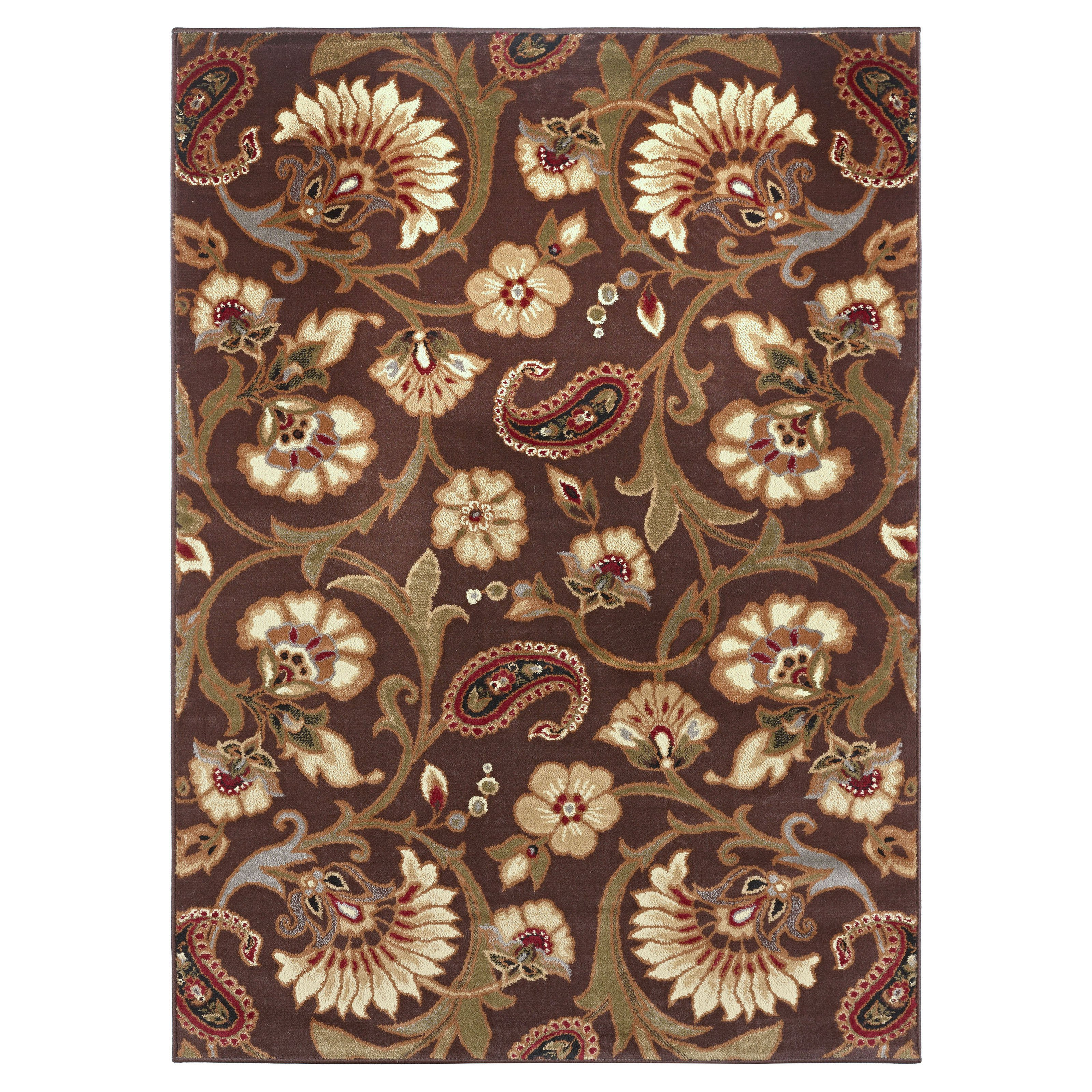 Rectangular Rug in Brown (7 ft. L x 5 ft. W (13 lbs.))