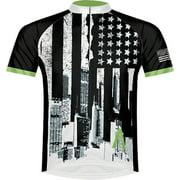 Primal Wear Merica Men's Cycling Jersey: White/Black, MD