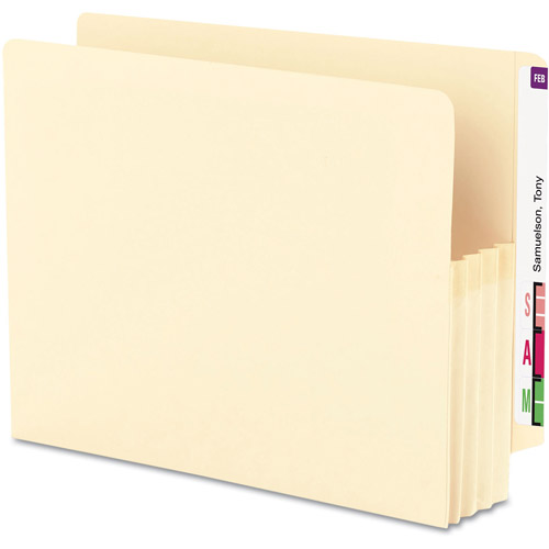 Smead Manila Expansion End Tab File Pockets, Box of 25