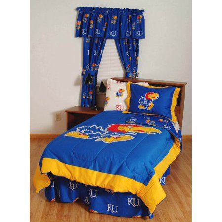 Kansas Bed in a Bag Full - With White Sheets by College Covers