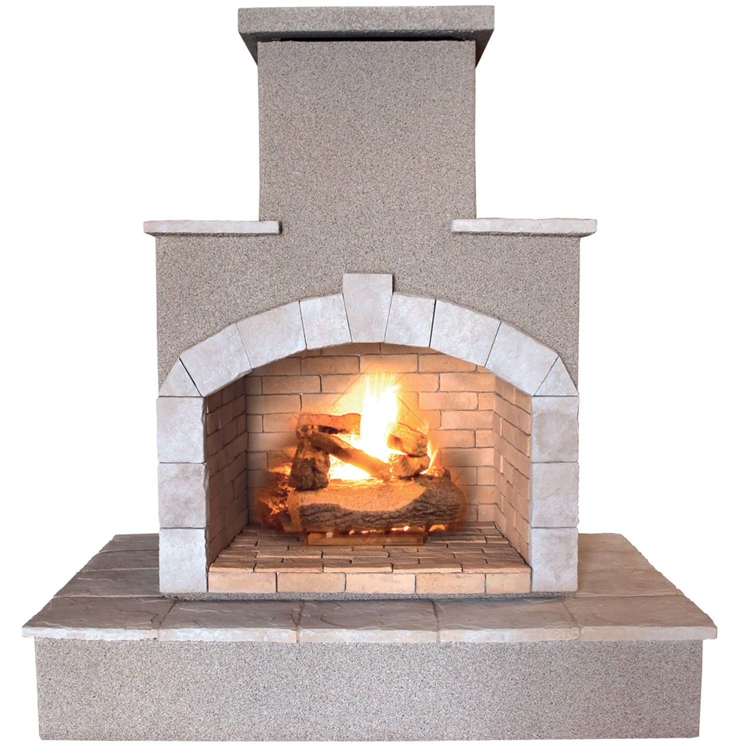 Cal Flame 78-inch Propane Gas Outdoor Fireplace by Overstock