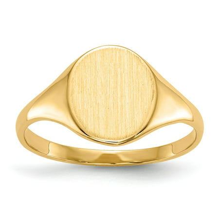 14k Yellow Gold 10mm Men's Signet Ring Size 5.5 14k Signet Mens Ring