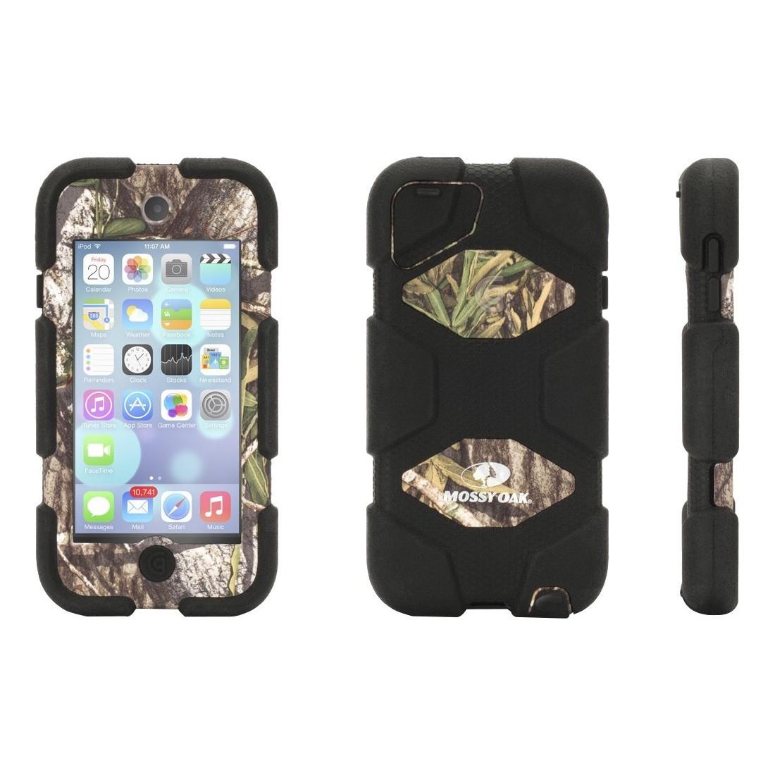 Griffin iPod Touch 5/6 Gen Rugged Case.  Survivor Case in mossy Oak Obsession/Black