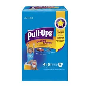 Pull-Ups Learning Designs Training Pants  4t-5t, Boy Jumbo Pack of 18