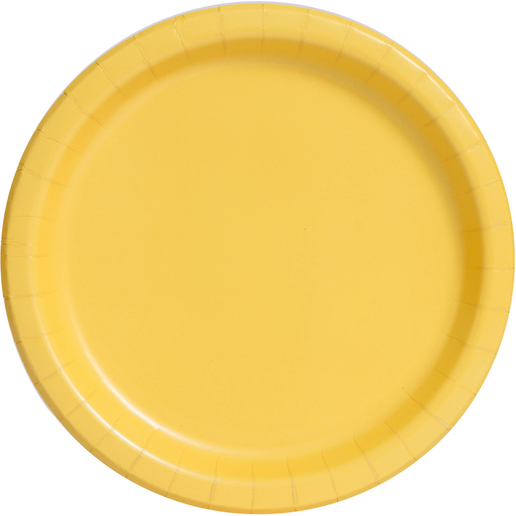 Paper Plates, 7 in, Yellow, 20ct