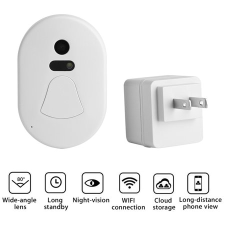 Yosoo Smart 2.4G RF Wireless Ring Doorbell WiFi Visual Camera Phone Anti-theft Alarm Home Security - image 1 de 8