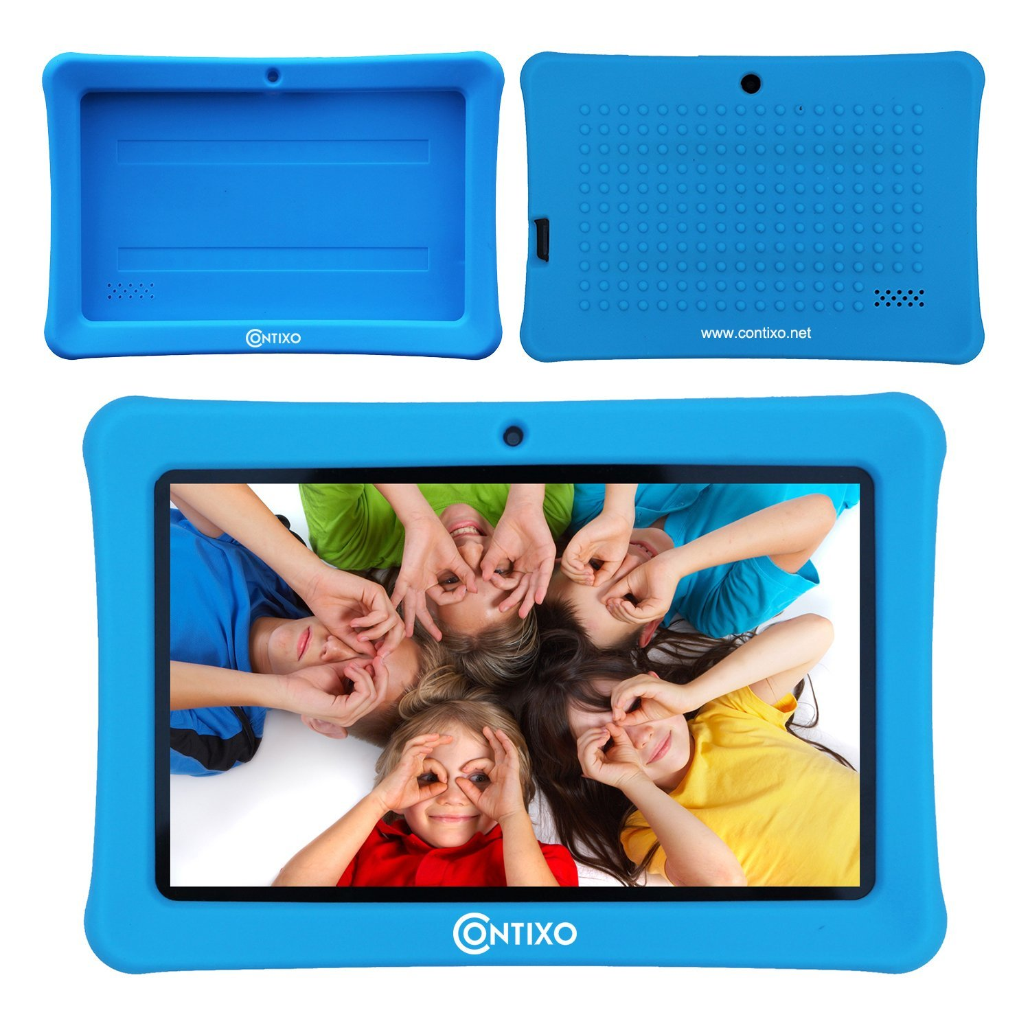 Contixo Defender Series Silicone 7 inch Android Tablet Cover Case (Blue)
