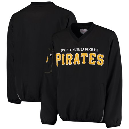 Pittsburgh Pirates G-III Sports by Carl Banks Gridiron V-Neck Pullover Jacket - Black