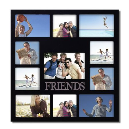 Adeco Trading Decorative ''Friends'' Wall Hanging Collage Picture