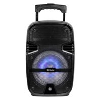 Britelite 8-in Portable Bluetooth PA Speaker with Retractable Handle & Wheels - TRS-08B