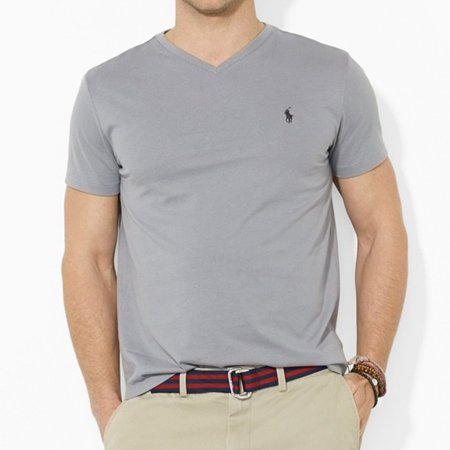 240201338b Polo Ralph Lauren Men's Classic Fit V-Neck T-Shirt Gray (L) W6A