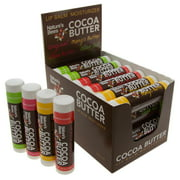24 Pack Nature's Bees Cocoa Butter Lip Balm Tubes Moisturizer All Natural Chapstick Treatment