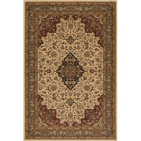 Concord Global Trading Persian Clics Collection Medallion Kashan Area Rug