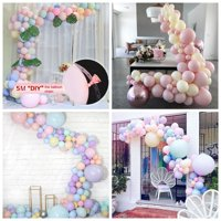 16.4 Ft Reusable Clear Balloon Decorating Strip Arch Garland Balloon Making for Birthday, Wedding, Events