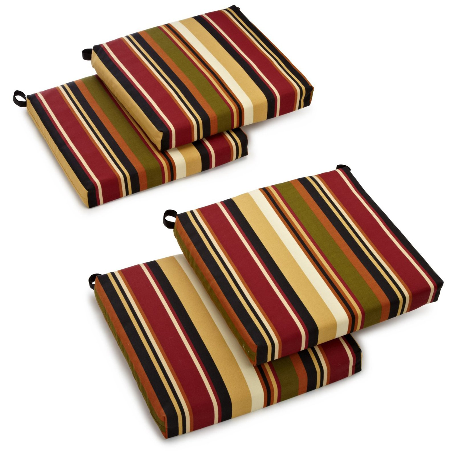 Blazing Needles Outdoor All Weather Uv Resistant 4 Piece Patio Chair Cushion Set