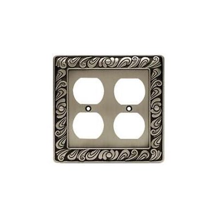 Brainerd 64196 Double Duplex Paisley Collection,Brushed Satin Pewter