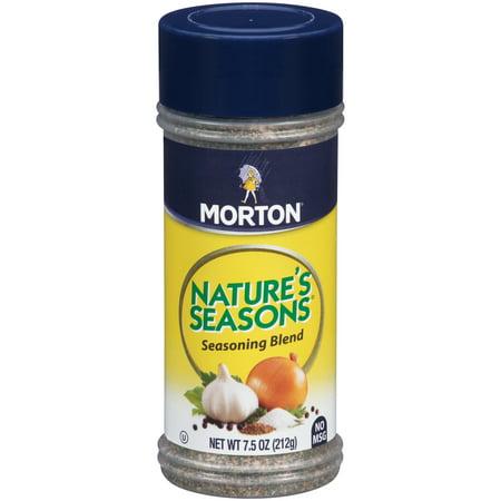 Morton Nature S Seasons  Less Sodium Seasoning Blend   Oz
