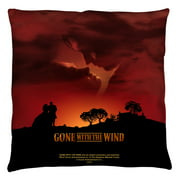Gone With The Wind Sunset Throw Pillow White 14X14