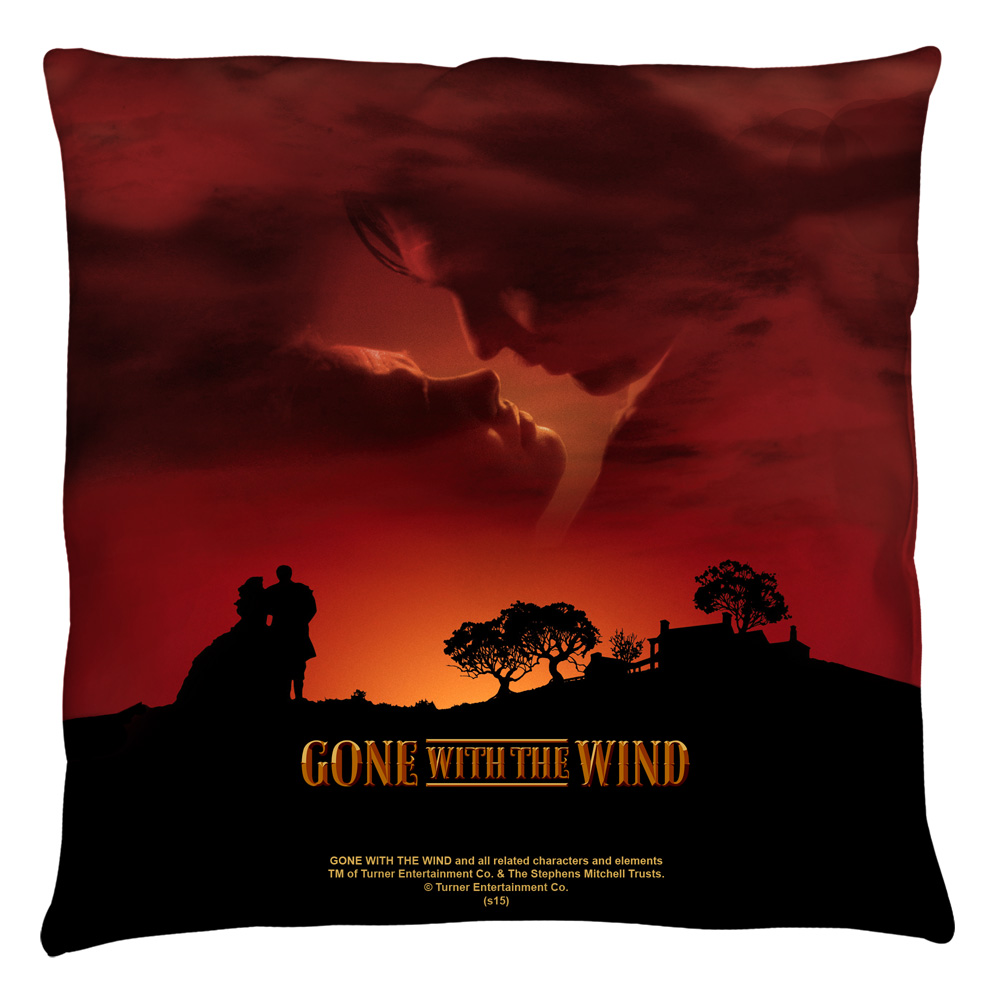 Gone With The Wind Sunset Throw Pillow White 18X18