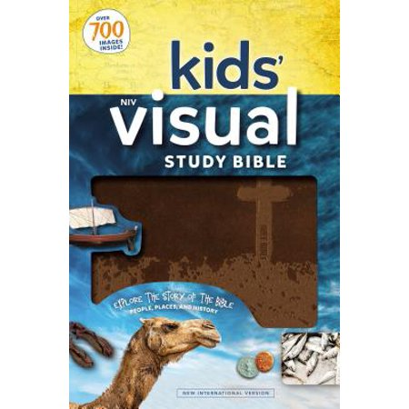 NIV Kids' Visual Study Bible, Leathersoft, Bronze, Full Color Interior : Explore the Story of the Bible---People, Places, and History - Exploring Visual Arts