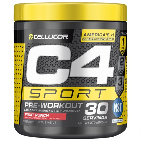 Cellucor C4 Sport Pre Workout Powder, Energy Drink with Creatine Monohydrate & Beta Alanine, Fruit Punch, 30 (Monster Amino Fruit Punch)
