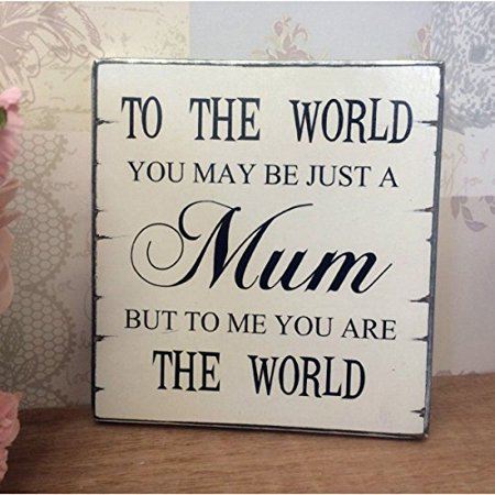 Pixnor Mothers Day Gift from Daughter Son Vintage Wall Plaque Sign ()