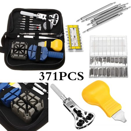mohoo 371pcs watch repair tool kit watchmaker opener remover spring pin bar with case. Black Bedroom Furniture Sets. Home Design Ideas