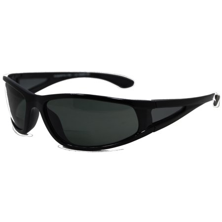 In Style Eyes  Del Mar Polarized Wrap Nearly Invisible Line Bifocal Sunglass (New Sunglass Styles)