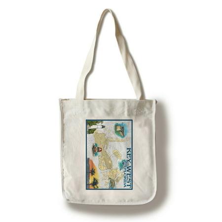 Key West, Florida - Nautical Chart - Lantern Press Artwork (100% Cotton Tote Bag - Reusable) - Nautical Bag