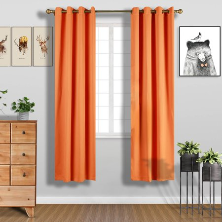 BalsaCircle 52 x 96-Inch Blackout Polyester Curtains Drapes 2 Panels with Grommet Top Home Window Treatments - Decoration Curtains