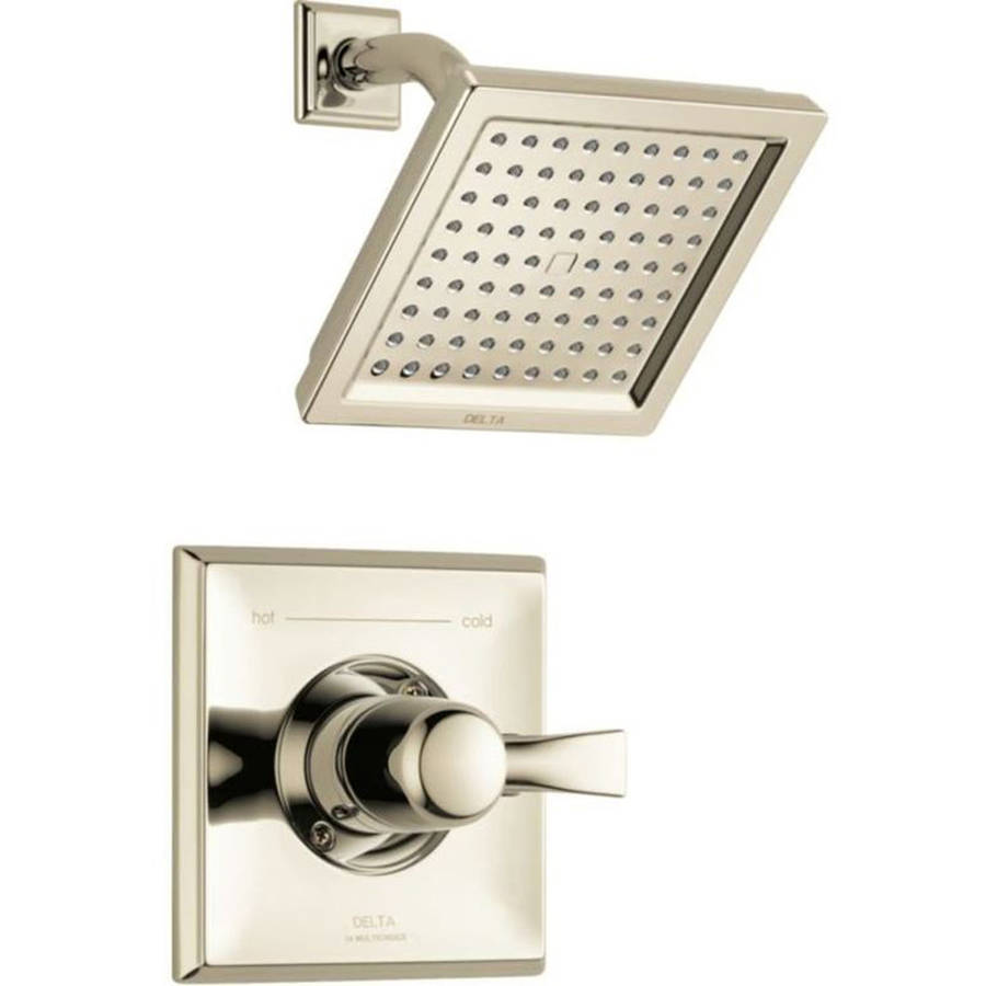 Delta T14251-PN Dryden Wall Mounted Rain Shower Faucet, Polished Nickel