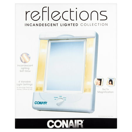 Conair Tm8lx3 2-sided Makeup Mirror With 4 Light Settings - Walmart.com - Conair Tm8lx3 2-sided Makeup Mirror With 4 Light Settings