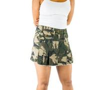 72d4dfe87e Follo Clothing - FOllO Women's Cotton Camo Camouflage Pleated Loose ...