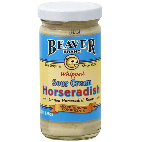 Beaver Brand Whipped Sour Cream Horseradish, 3.75 oz (Pack of 12)