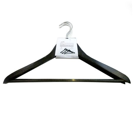 6  Pc Wood Suit Hangers Durable Swivel Chrome Coat Premium Natural Wooden (Button Fly Wool Suit)