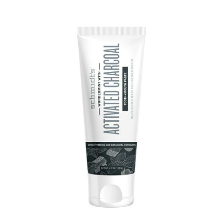 Schmidt's Activated Charcoal with Wondermint Toothpaste, 4.7 oz